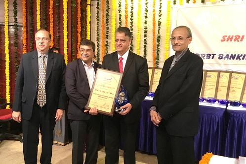 "Bank receives the ""Best Bank Award among Small Banks for use of Technology for Financial Inclusion"" from IDRBT on 01-09-2017"