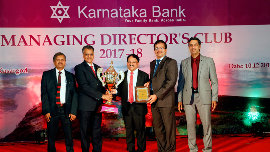 Managing Director's Club get together 2017-18 Best Region Award
