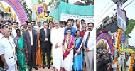 Installation of solar street lights at Kalasa Town