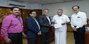 Bank donates Rs 25.00 lakh to Chief Minister's Distress Relief Fund of Kerala State on 01-09-2018