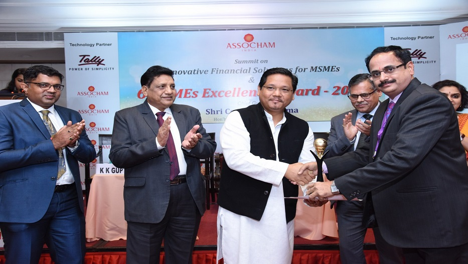 Bank bags ASSOCHAM SMEs Excellence Award - 2018