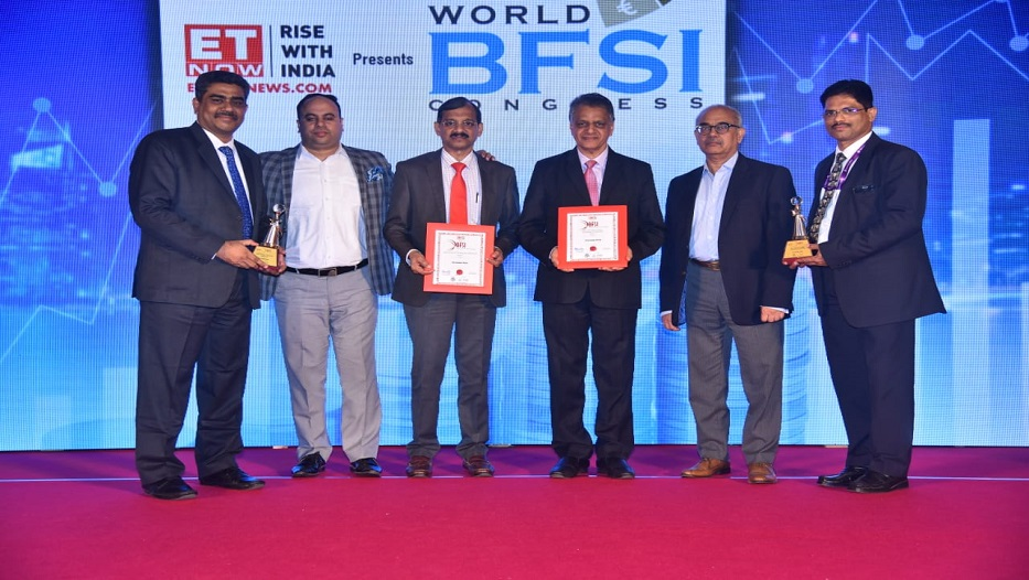 Bank bags ET Now - BFSI Awards on 14-02-2019