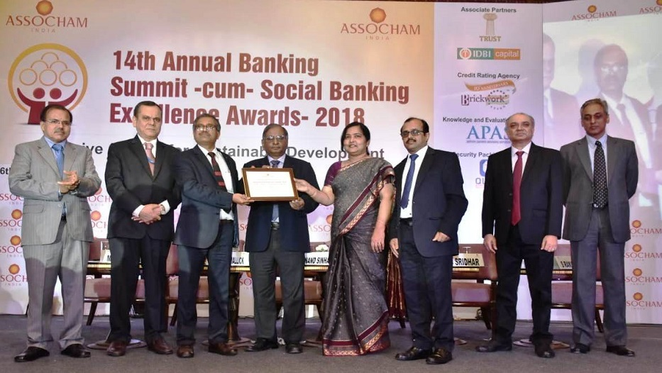 Bank bags ASSOCHAM Social Banking Excellence Awards - 2018