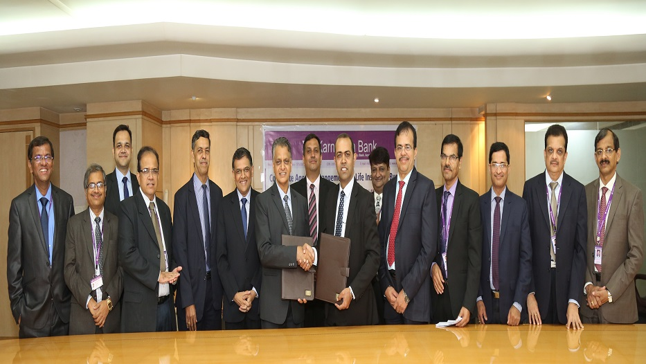 Karnataka Bank TIEs up with Bharti Axa Life Insurance Company Limited for Life Insurance Business