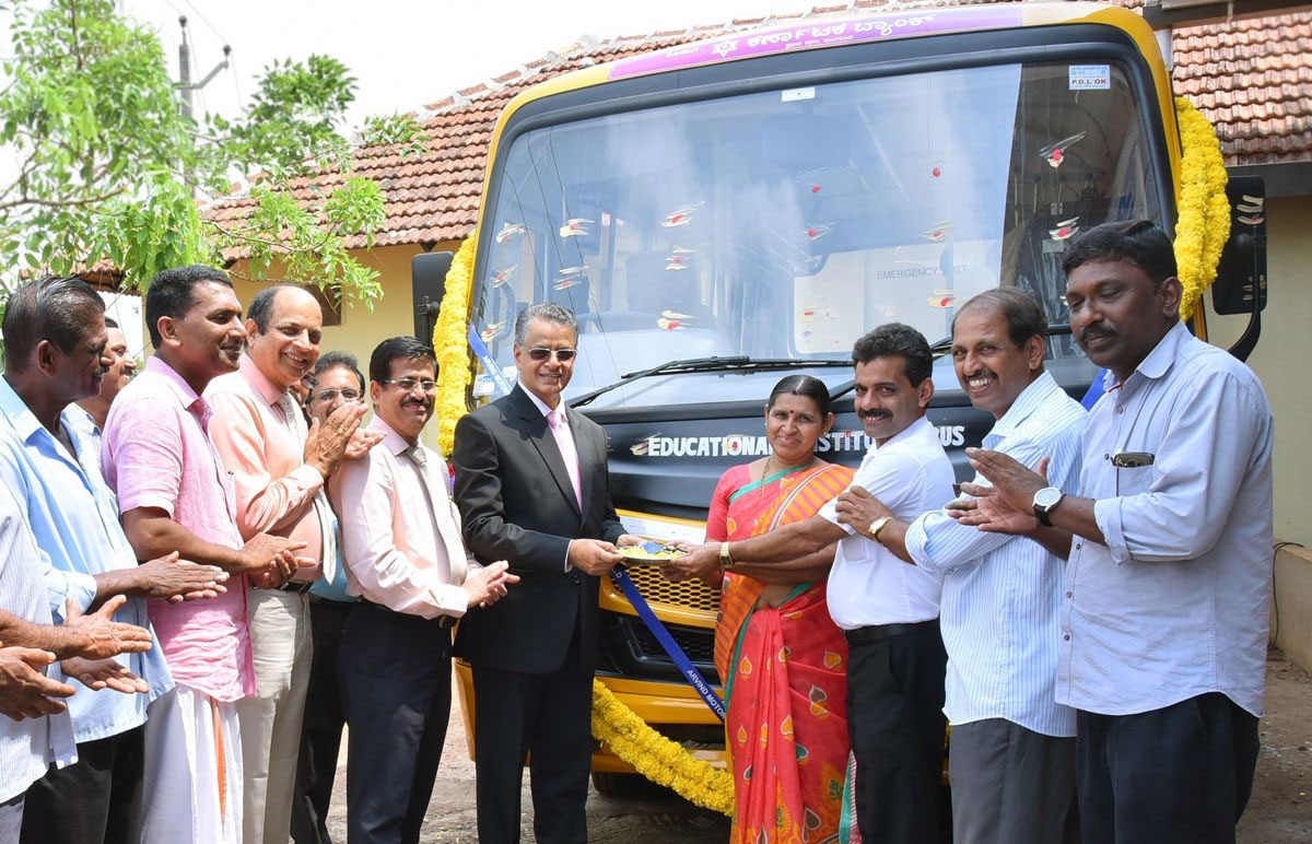 chool Bus Donated to Vidhyavardhaka Aided Higher Primary School