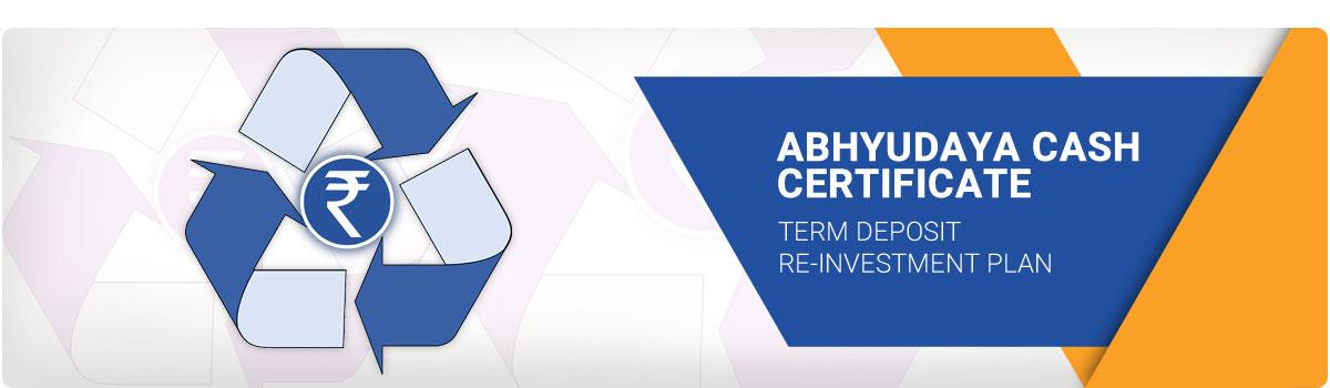 Abhyudaya Cash Certificate Acc Karnataka Bank
